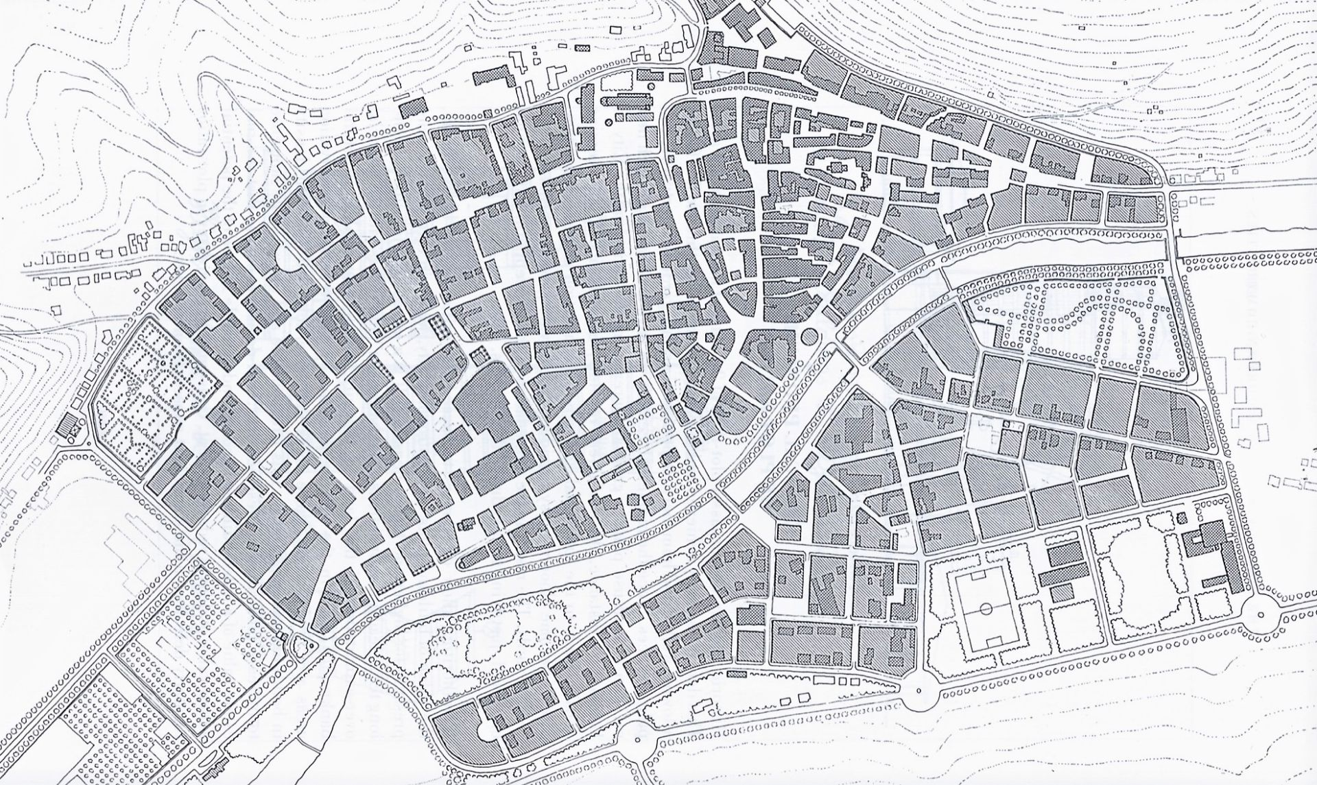 Carto Dk KRIER Léon Masterplan Diekirch 1984_1 - Version 2